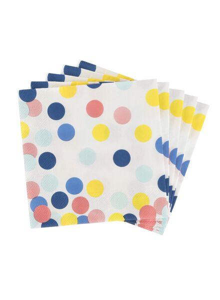 servetten - 24 x 24 - papier - confetti - 20 stuks - 14230064 - HEMA