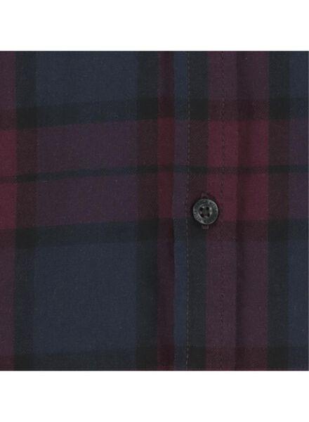herenoverhemd flanel rood rood - 1000016825 - HEMA