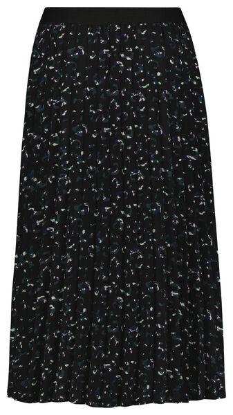 damesrok plissé zwart XL - 36202454 - HEMA