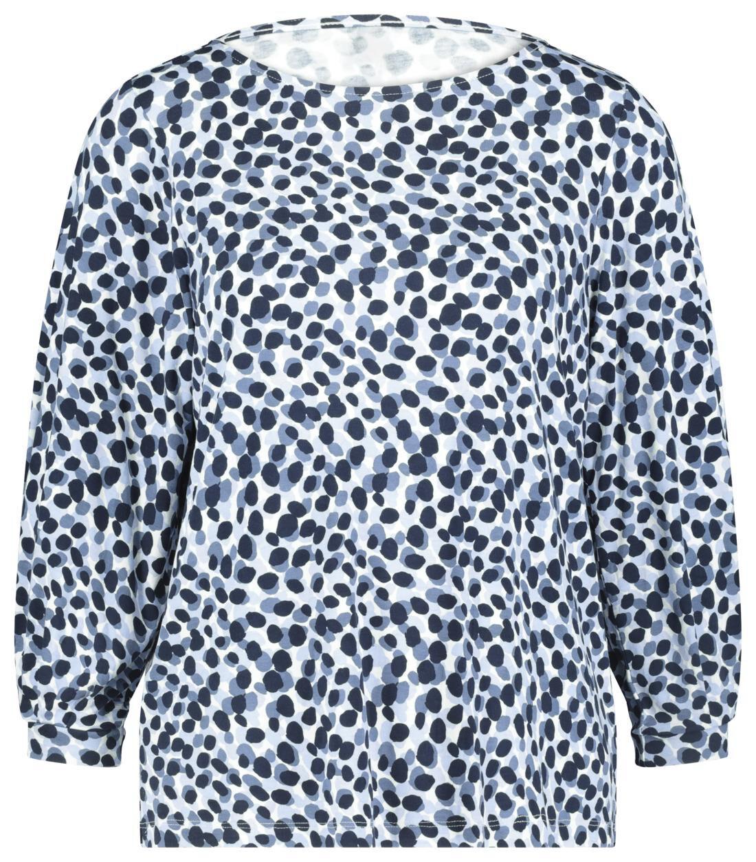 HEMA Dames T-shirt Stippen Lichtblauw (lichtblauw)