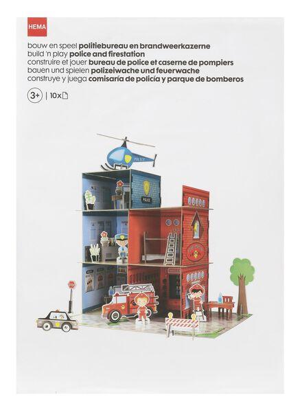 10-delig bouw en speel politiebureau en brandweerkazerne - 15920182 - HEMA