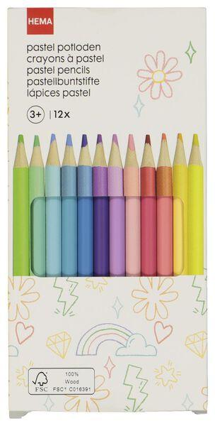 kleurpotloden pastel - 12 stuks - 15990188 - HEMA