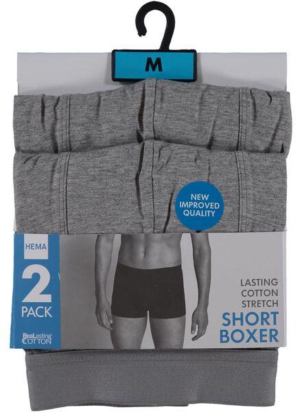 2-pak RLC short boxer lichtgrijs lichtgrijs - 1000001048 - HEMA