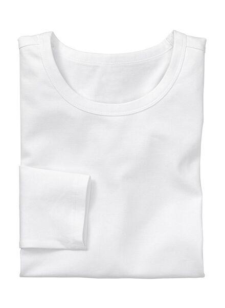 heren t-shirt slim-fit wit wit - 1000005994 - HEMA