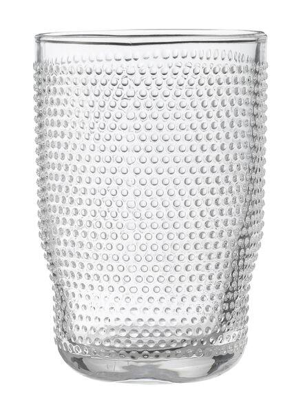 longdrink glas Bergen bolletjes reliëf 340ml - 9402010 - HEMA