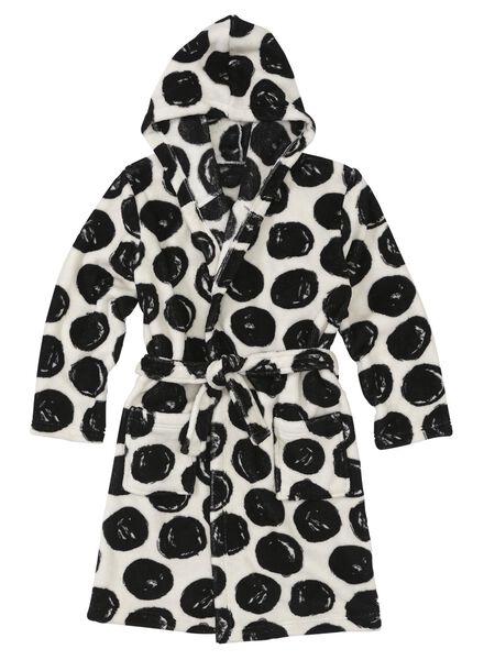 kinderbadjas zwart/wit zwart/wit - 1000006650 - HEMA