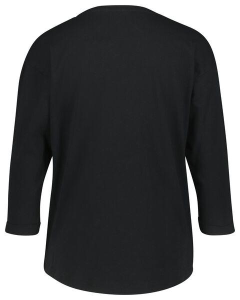 dames t-shirt zwart L - 36364783 - HEMA