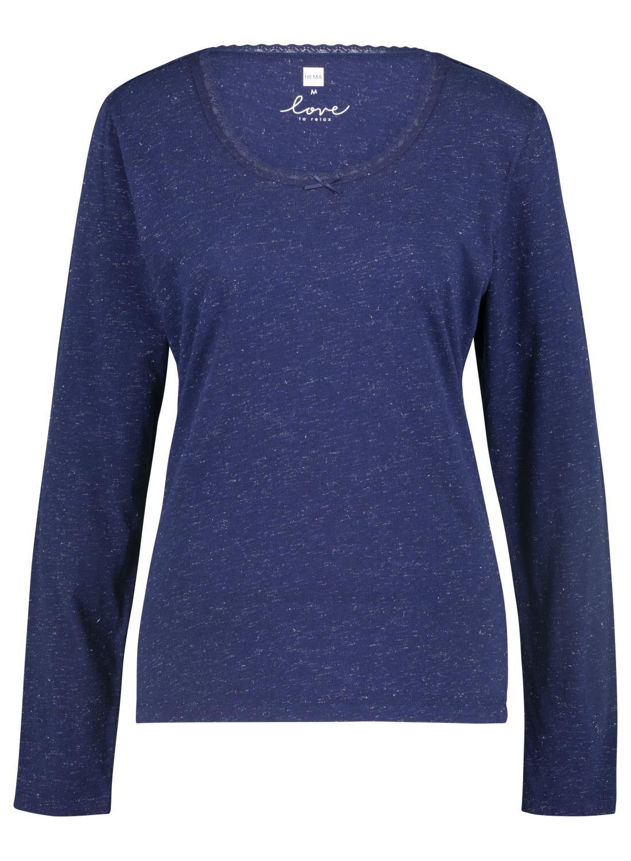 HEMA Dames Nacht T-shirt Donkerblauw (donkerblauw)
