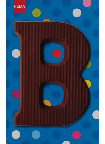 melkchocolade letter B - 10033001 - HEMA
