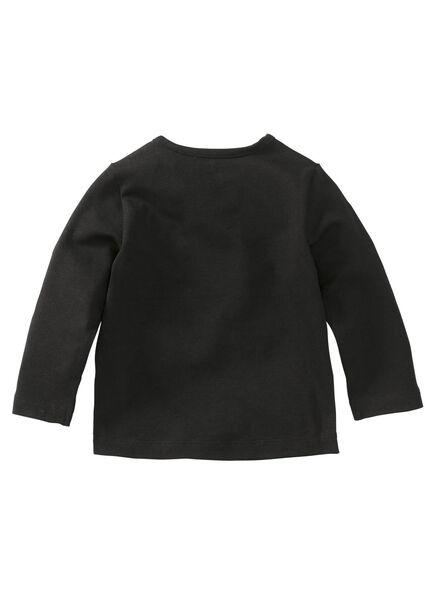 baby t-shirt zwart zwart - 1000008350 - HEMA