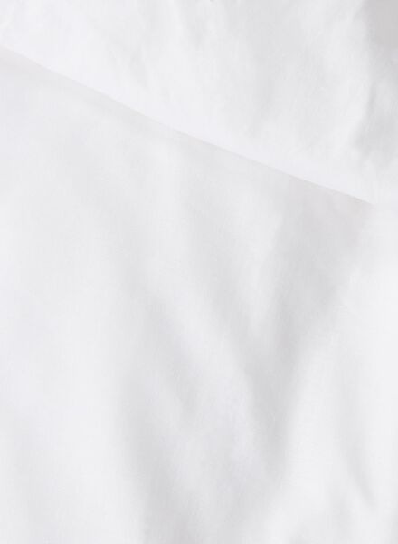dekbedovertrek - zacht katoen - 200 x 200 cm - wit - 5700049 - HEMA