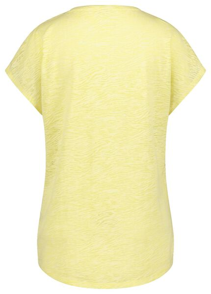 dames t-shirt lichtgeel lichtgeel - 1000019876 - HEMA