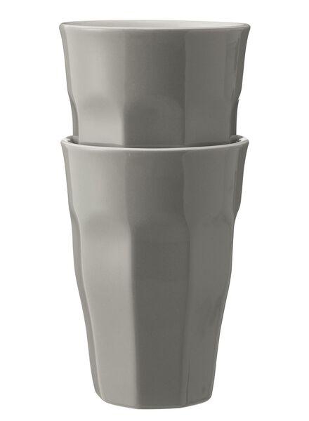 mokken - 330 ml - Mirabeau - lichtgrijs - 2 stuks 330 ml lichtgrijs - 9680059 - HEMA