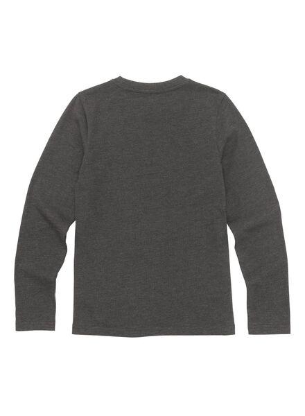 kinder t-shirt donkergrijs donkergrijs - 1000010713 - HEMA