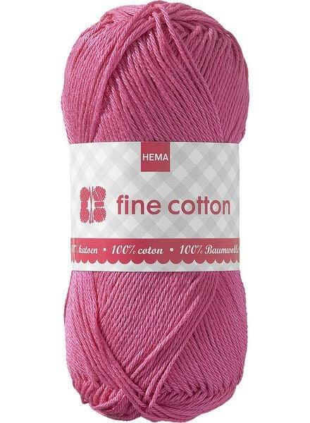 breigaren fine cotton fine cotton roze - 1400013 - HEMA