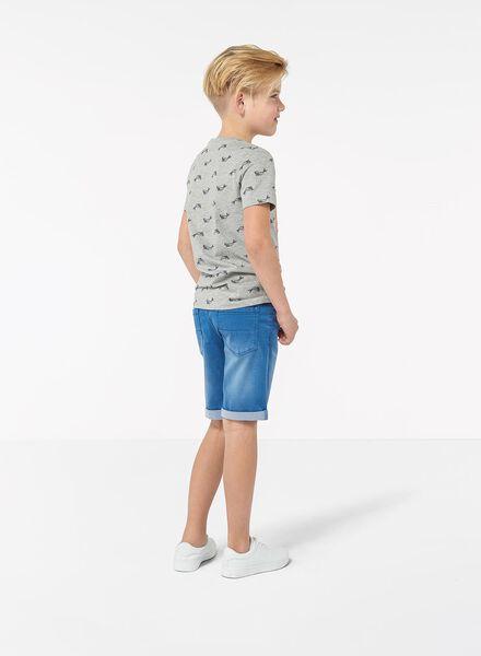 kinder t-shirt grijsmelange grijsmelange - 1000013290 - HEMA