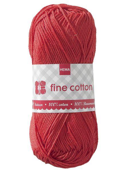 breigaren fine cotton fine cotton rood - 1400012 - HEMA