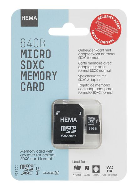 geheugenkaart 64 GB micro SDXC - 39512303 - HEMA
