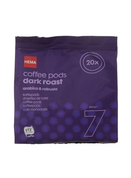 koffiepads dark roast - 20 stuks - 17100001 - HEMA