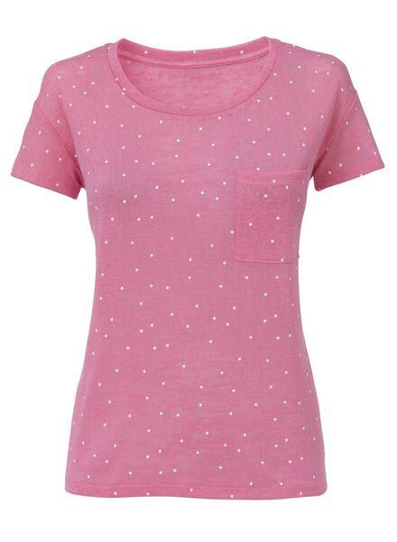 dames t-shirt lichtroze - 1000006770 - HEMA