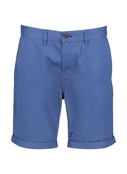 heren chino short middenblauw middenblauw - 1000013619 - HEMA