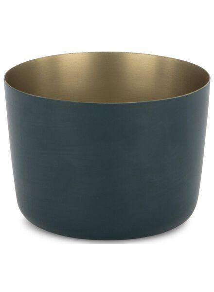 sfeerlichthouder - 5.5 x Ø 8 cm - donkerblauw - 13392105 - HEMA