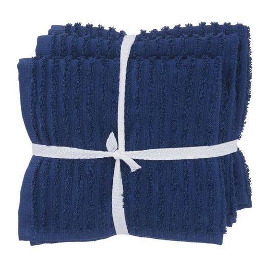 HEMA Vaatdoekjes - Katoen - Blauw - 3 Stuks (blauw)