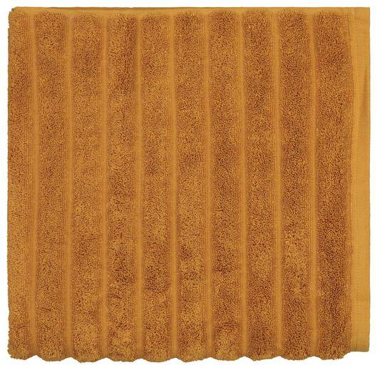 handdoek 70x140 hotel extra zwaar - structuur goudbruin donkeroranje handdoek 70 x 140 - 5280008 - HEMA