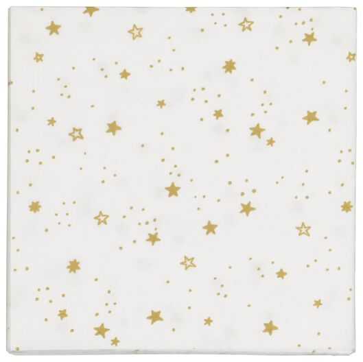 servetten 33x33 papier - sterren goud - 20 stuks - 25600158 - HEMA