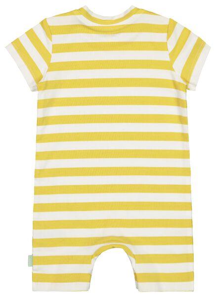 newborn jumpsuit 'daddy' - biologisch katoen geel geel - 1000019716 - HEMA