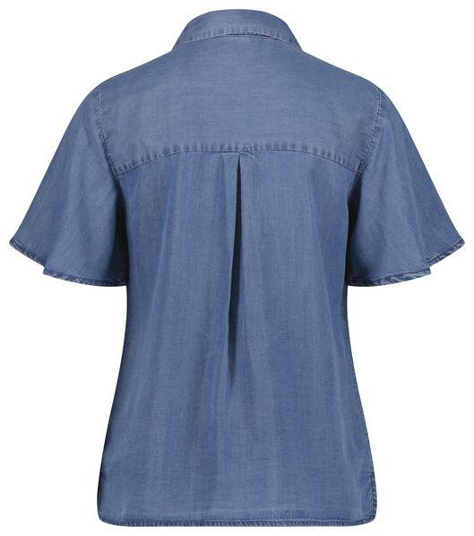 damesblouse denim middenblauw - 1000024012 - HEMA
