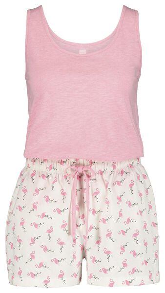 dames pyjama lichtroze XL - 23424124 - HEMA