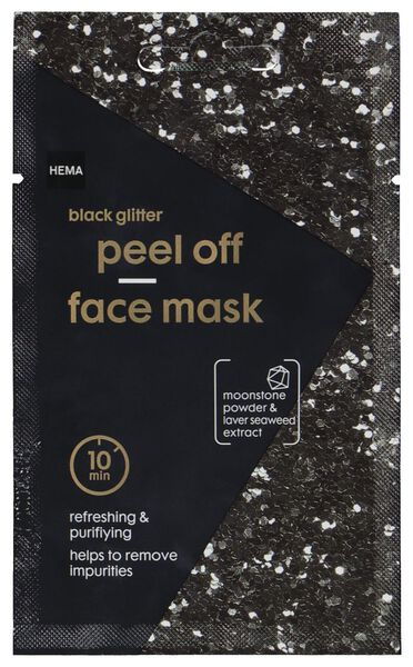 masker peel off glitter zwart 10ml - 17800301 - HEMA