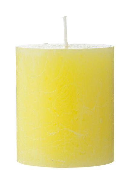 rustieke kaars 7 x 8 cm geel 7 x 8 - 13502068 - HEMA