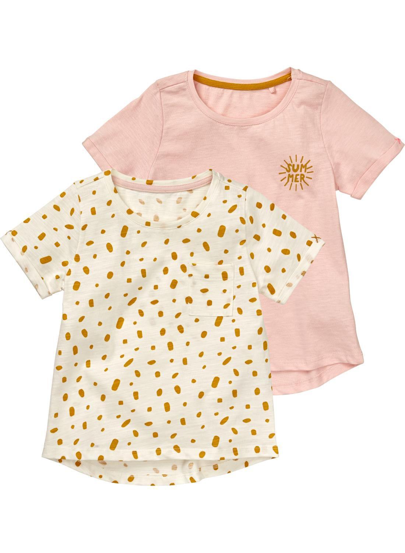 HEMA 2-pak Kinder T-shirts Gebroken Wit (blanc casse)