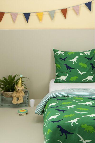 kinderdekbedovertrek - zacht katoen - 140 x 200 cm - groen dino - 5700098 - HEMA