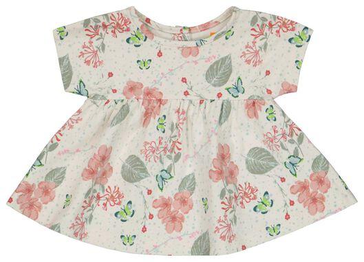 newborn set - t-shirt en broek organic katoen stretch wit wit - 1000023597 - HEMA