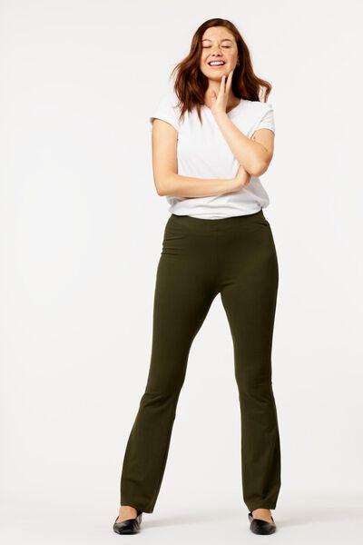 dames legging flared donkergroen donkergroen - 1000024851 - HEMA