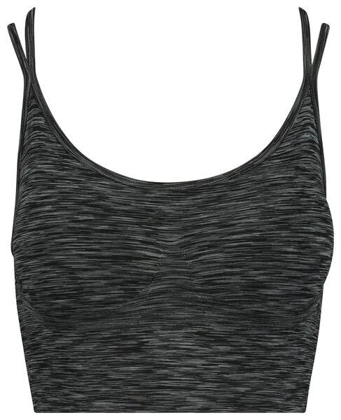dames sportbh grijsmelange grijsmelange - 1000018883 - HEMA