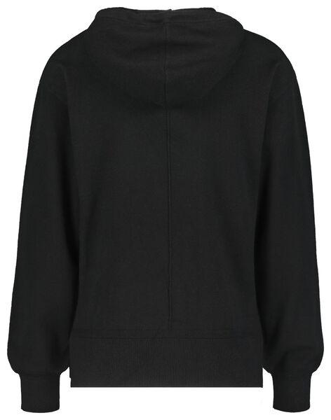 dames loungetrui met capuchon zwart zwart - 1000021163 - HEMA