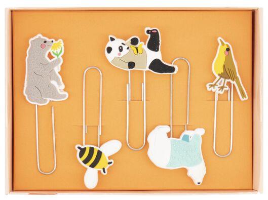 Paperclips dieren - 5 stuks - in Paperclips