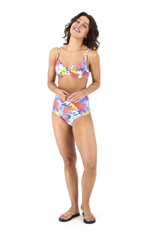 HEMA Dames Bikinislip High Waist Blauw (blauw)