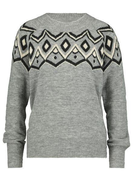 damessweater middengrijs middengrijs - 1000017121 - HEMA