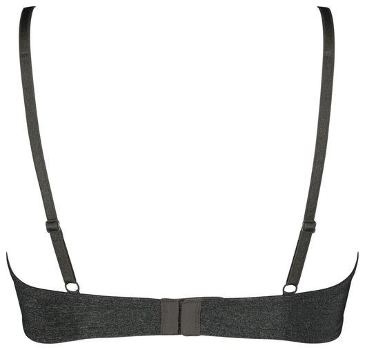 t-shirt bh's push up recycled - 2 stuks grijsmelange grijsmelange - 1000022907 - HEMA