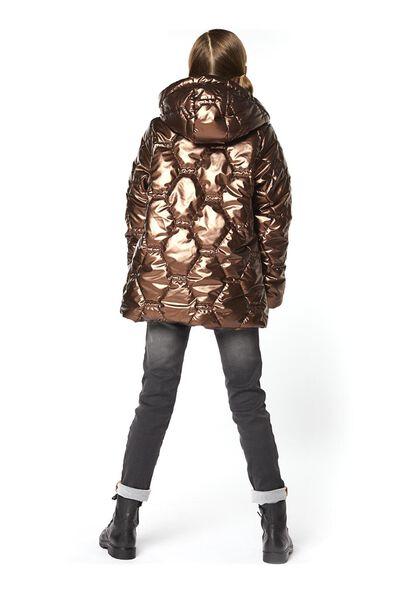 kinderjas gewatteerd metallic bruin bruin - 1000020514 - HEMA