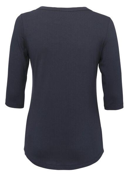 dames t-shirt donkerblauw donkerblauw - 1000011642 - HEMA