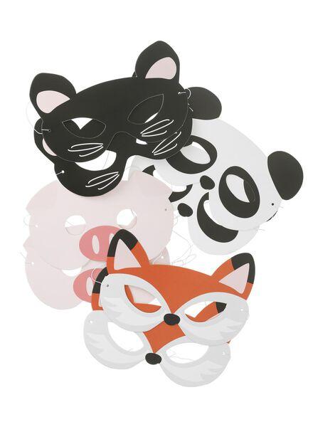 8-pak papieren maskers - 14230096 - HEMA