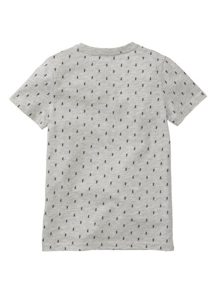 kinder t-shirt grijsmelange grijsmelange - 1000006677 - HEMA