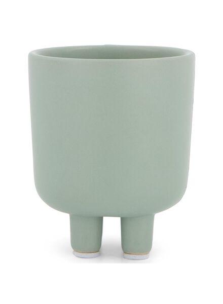 bloempot - 8 x Ø 6.5 cm - matgroen keramiek - 13392061 - HEMA