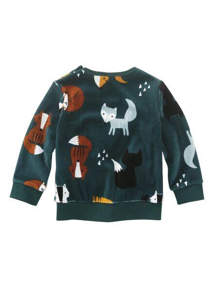 babysweater donkergroen donkergroen - 1000010678 - HEMA
